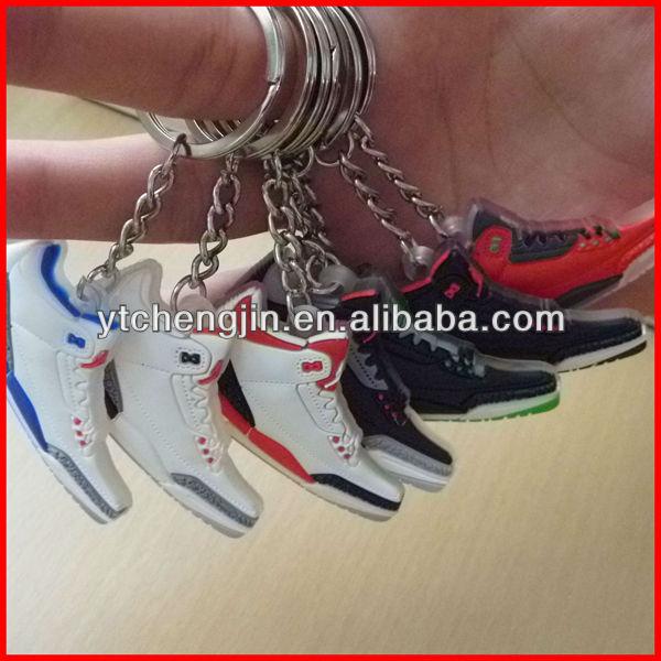 Wholesale Jordan 3 jordan keychain/mini jordan keychain/cheap