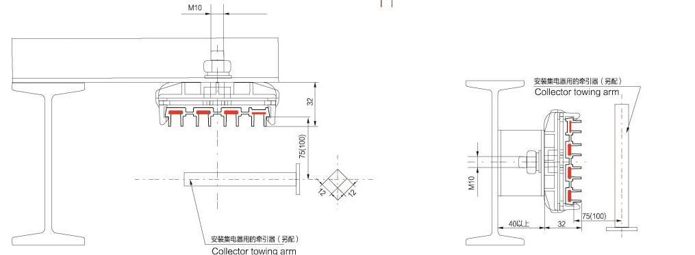 Overhead Crane Busbar System : Overhead crane power rail busbar system buy
