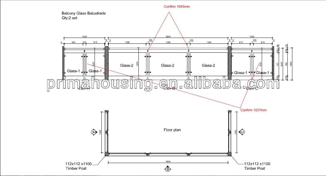 glass balcony railing detail images. Black Bedroom Furniture Sets. Home Design Ideas