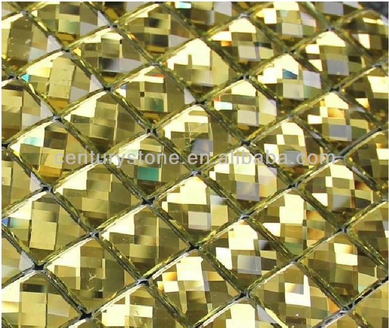 Tee Braun Gold Facette Abgeschrägten Glasspiegel Fliese Kleber - Mosaik fliesen braun gold