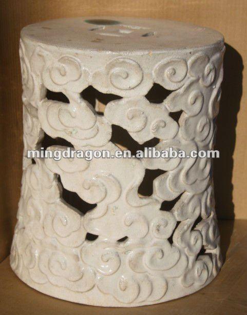 blue and white dragon garden stool large metal antique ceramic