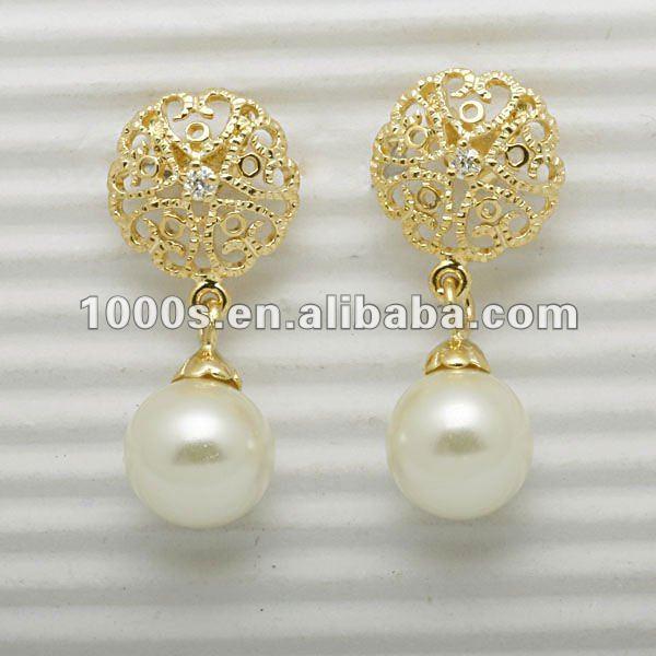 gold earring designs for women pearl earring view pearl earrings