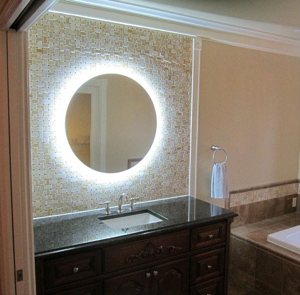 Shanghai Bath Mirror Decorative Lighted Round Shape BGL 002 Supplier