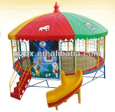 multi utilis maternelle trampoline en dehors du saut trampoline avec tente color e trampoline. Black Bedroom Furniture Sets. Home Design Ideas