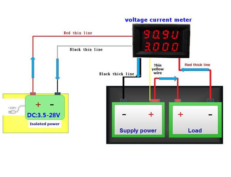 Led Wiring Diagram Of Voltmeter - Wiring Diagram M4 on