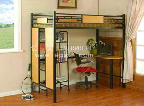 moderno muebles para el hogar queen size cama litera de madera conjunto con mesita de noche