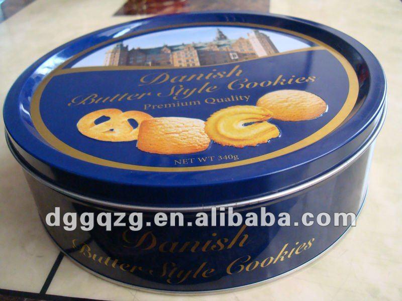Round Printed Christmas Cookie Tins - Buy Christmas Cookie ...