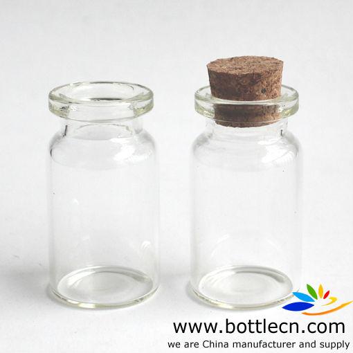 5 ml pequeos frascos de vidrio de corcho - Frascos De Cristal