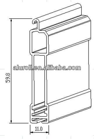 Extruded Bottom Slat End Slat For Aluminum Roller Shutters