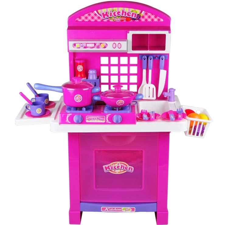Ht-238855a Spielzeug Küche Set Kinder Emulational Schrank Mit Allen ...