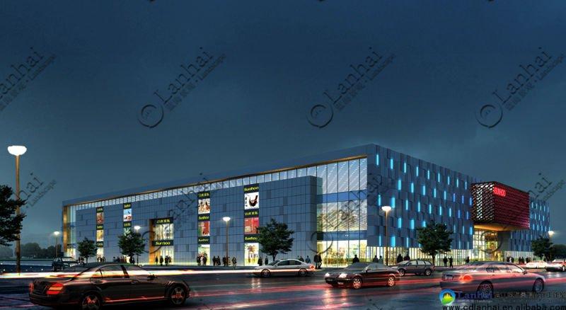 Supermarket Architectural Design Commercial Building Plan