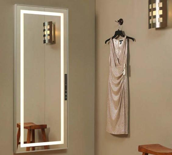 Nuevo tipo de espejo de tocador con luz led buy longitud for Espejo pared completa
