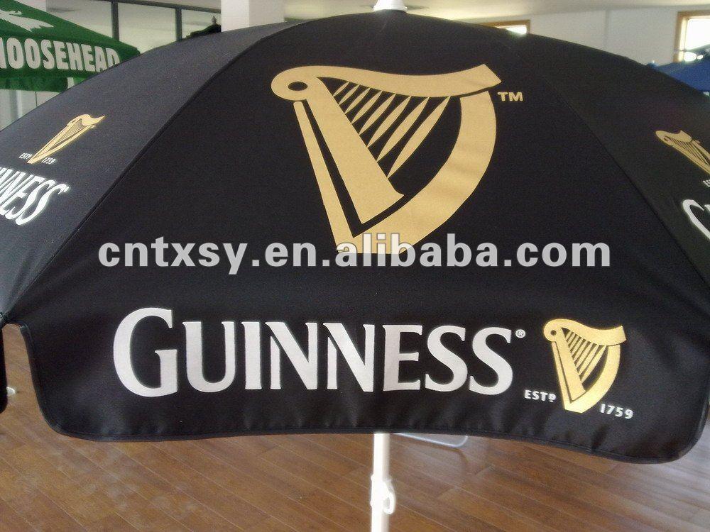 Beautiful Guinness Logo Print Vinyl Tarpaulin Pvc Waterproof Fabric Patio Outdoor  Umbrella