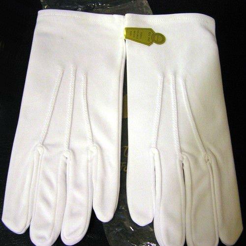 White Nylon Gloves Wedding Church Usher Band Nip One