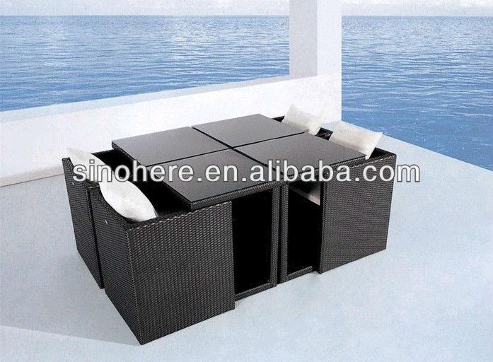 Dining Stoelen Tuin : Rotan kubus dining set tafel en stoelen voor tuin terras en buiten