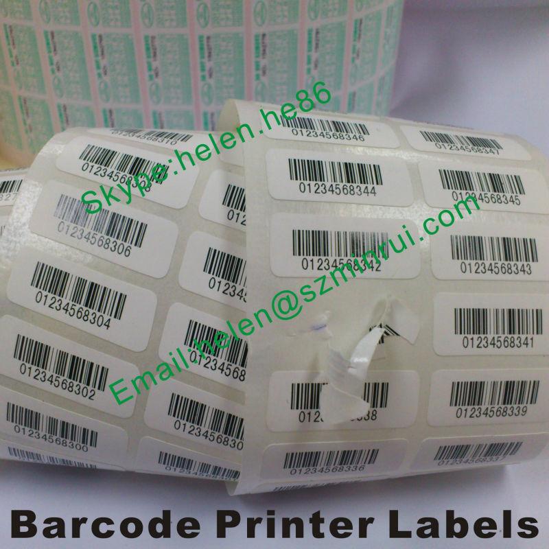 Custom Barcode Printer Printing Self Destructive Security