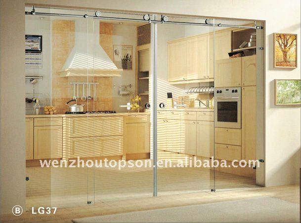 Kitchen Frameless Sliding Glass Partition Door Buy