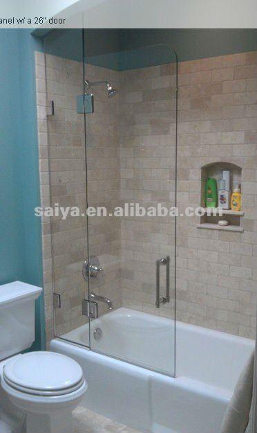 Pared de vidrio de ducha bisagras abrazadera de cristal for Puertas de cristal para duchas
