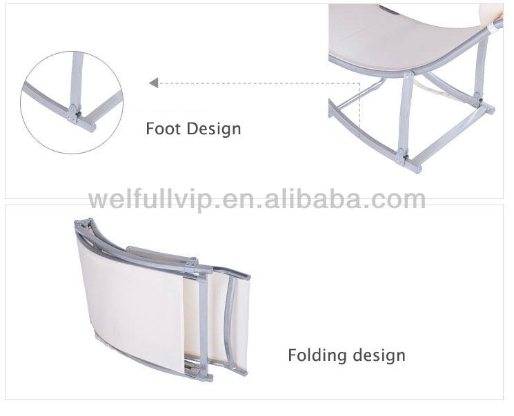 swimming pool aluminium outdoor lounge relaxing sleep chair