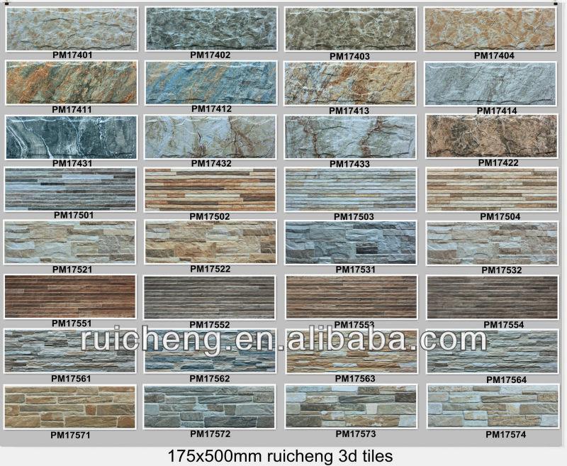 Wood Design Wall Tile 3d Digital Inkjet Printing Tile 175x500mm