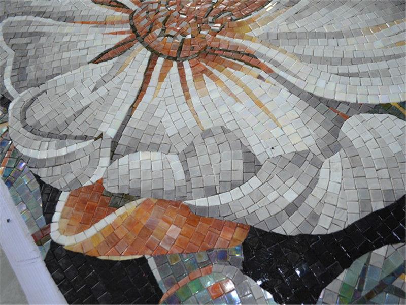 Ztclj jy jh bj01 a kitchen backsplash handmade flower for Mural mosaic