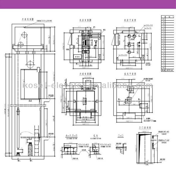 Gearless Observation Lift Glass Observation Cabin