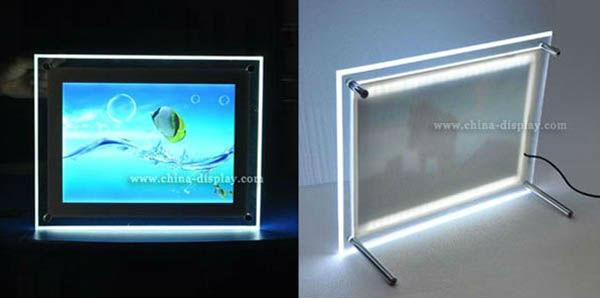 advertising display acrylic photoframe with led light inside