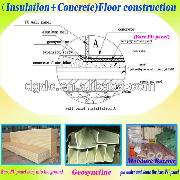 Freezer floor insulation gurus floor for Cold floor insulation