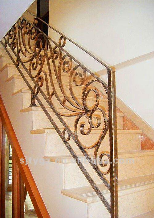 moderne mode de luxe en fer forg rampe d 39 escalier buy fer forg rampe d 39 escalier la main. Black Bedroom Furniture Sets. Home Design Ideas