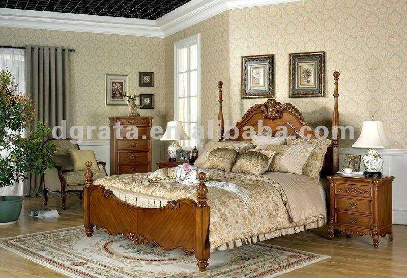 Chambre coucher en bois massif cool chambre a coucher - Royal design muebles ...
