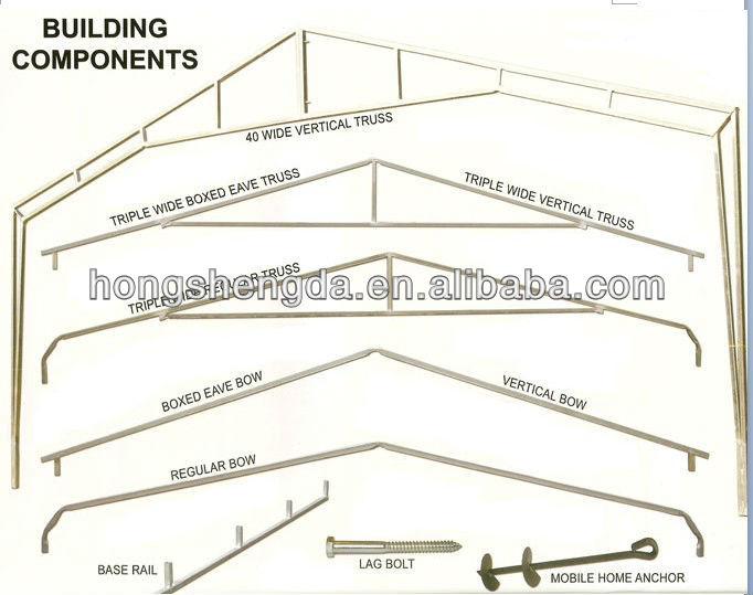 Boxed eave metal shed steel structure carport garage buy for Carport detail