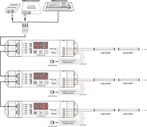 aliexpress com buy pwm dmx512 decoder one channel dmx dmx cable wiring diagram dmx control wiring diagram