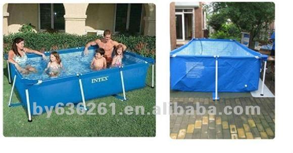 Splash pl stico rectangular piscina por encima del suelo for Piscina plastico rectangular