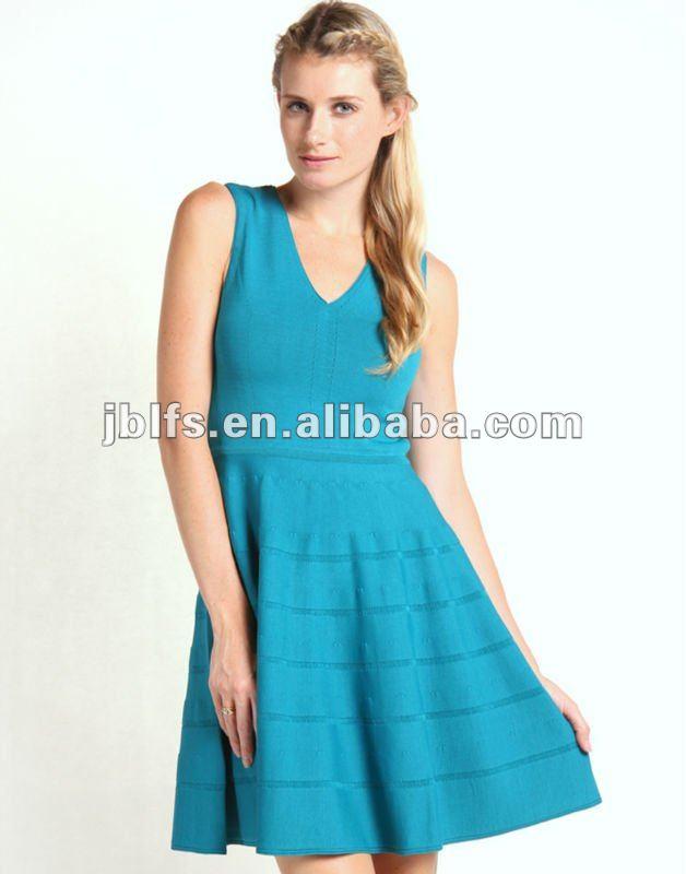 Vestidos verde azulado mujer