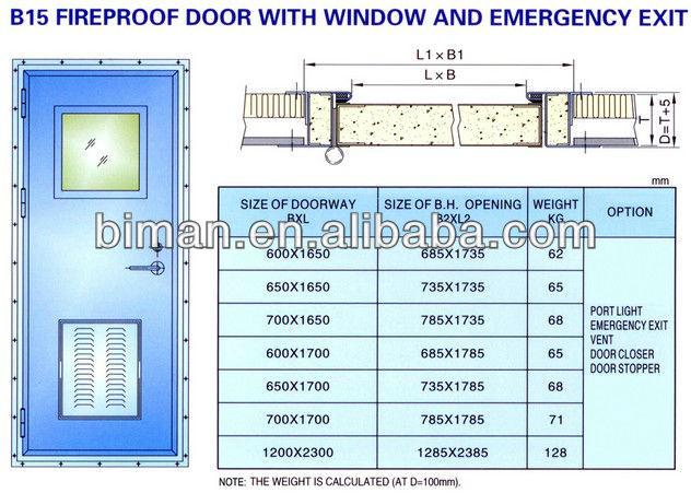 Class b30 fireproof door 1 hour fire rated door with for 1 hour fire rated wood door