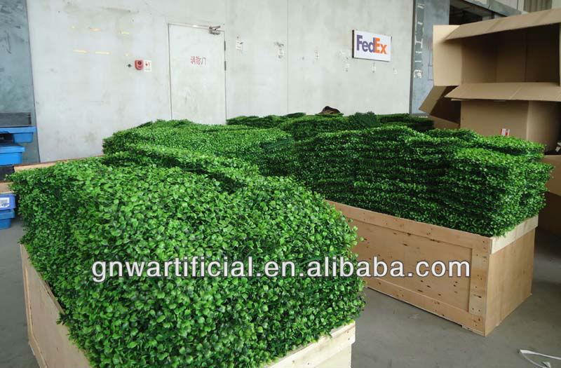 Gnw Box099 Home Decoration Indoor Boxwood Panel Green Plastic
