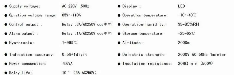 TEMPERATURE CONTROLLER DHC1T-D
