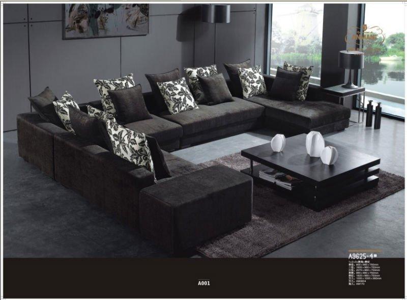 Luxury Fabric Sofa Fabric Corner Sofa Purple Fabric Sofa