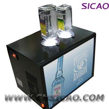 2 Bottle Led Chilled Liquor Dispenser Spirit Tap Machine