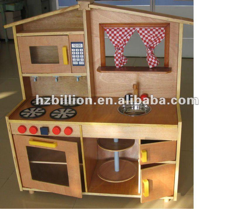 Ni os y ni os grandes juegos de cocina de madera juguete - Hacer cocinita de juguete ...