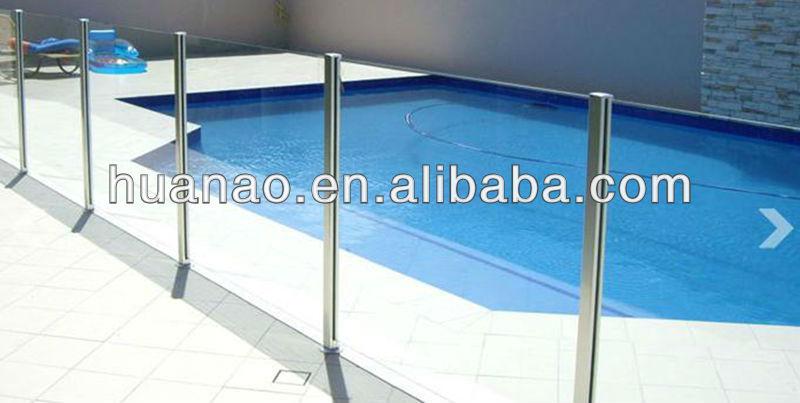Outdoor Aluminum Glass Railing/ Frameless Glass Railings For Pool ...