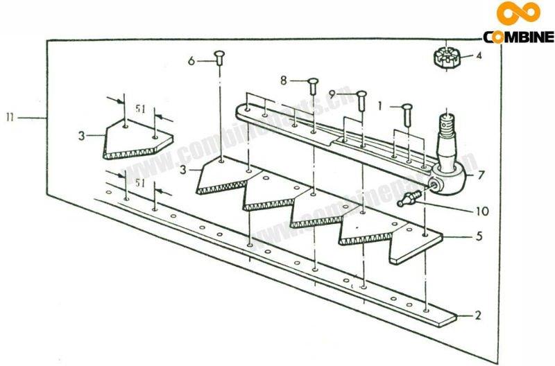 machine cutter bar assembly