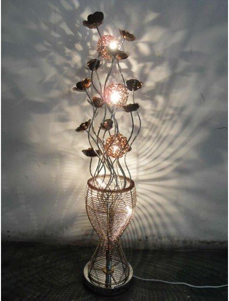 Metal Art Lamp Metal Flower Lamp Aluminum Floor Lamp