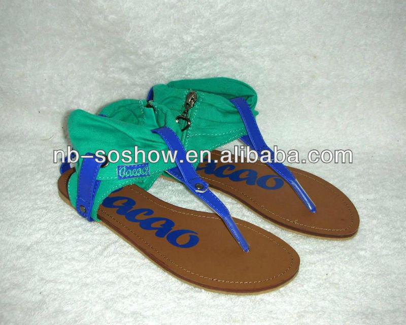 Latest Design Girls Canvas Flat Sandals