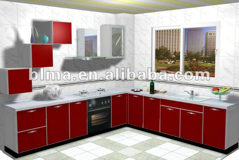 Modernos gabinetes de cocina con pvc puerta buy modernos gabinetes de cocina con puerta de pvc - Cocinas modernas precios ...