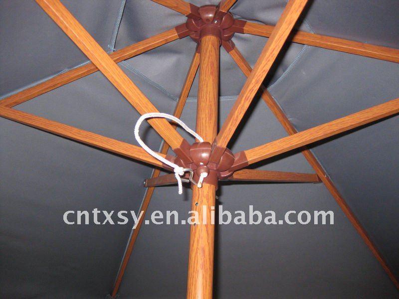 Crank Pulley System Windproof Aluminum Frame Waterproof Polyester Outdoor  Umbrella Promotional Garden Umbrella