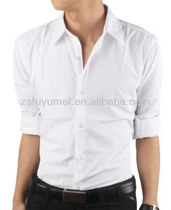 100%cotton Half Sleeve Pure White Shirts Design For Men - Buy Half ...