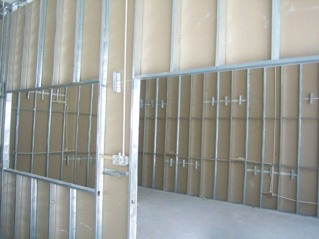 Lighting Basement Washroom Stairs: Stud Track Drywall Stud Track