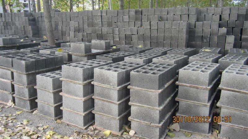 Qtj4 26c concrete block molding machine cement brick for Foam concrete forms for sale