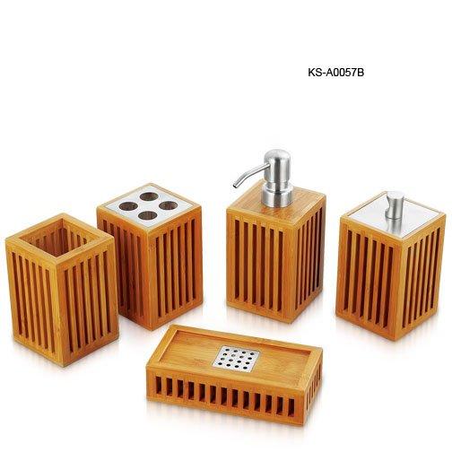 Bathroom Accessories Bamboo bamboo bathroom set - buy bamboo bathroom set,bathroom set